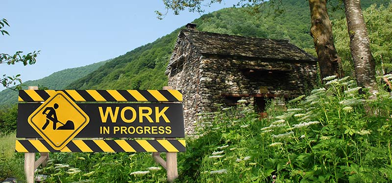 ATTENTION! Works in progress at Val Grande National Park