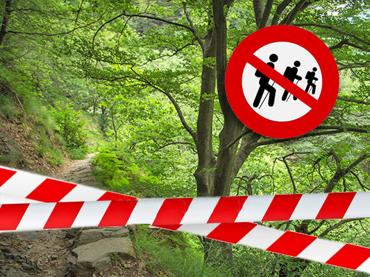 A section of the Cicogna-Pogallo path is closed on August 4th and 5th