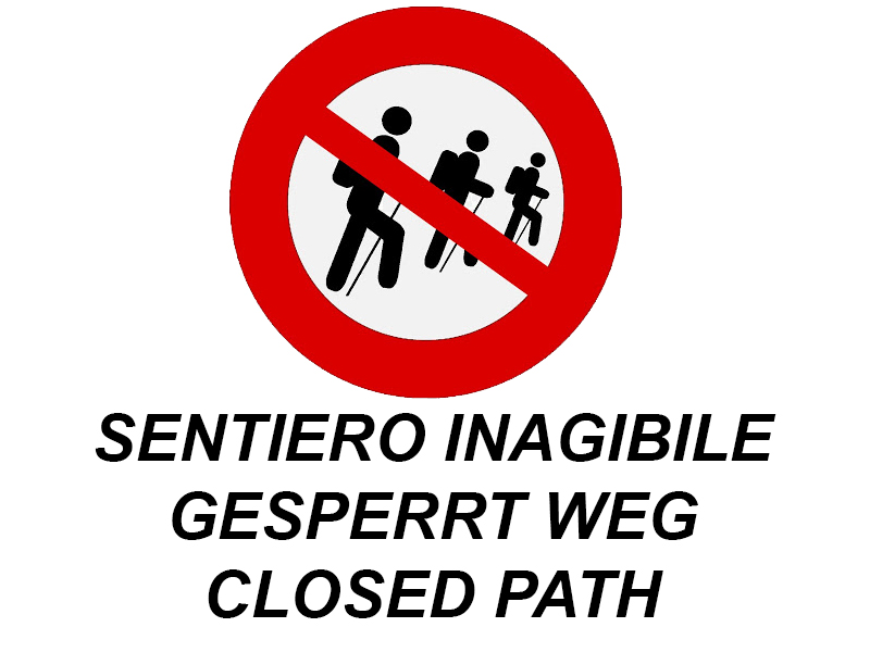 The path for Cicogna-Pogallo is closed again